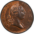 Colonials, 1773 1/2 P Virginia Halfpenny, Period, MS65 Red and Brown PCGS. PCGS Population: (11/1 and 1/0+). NGC Census: (0/0 and 0/0+...