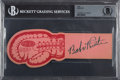 Autographs:Others, 1946 Babe Ruth Signed Boxing Ticket, Beckett Authentic. ...
