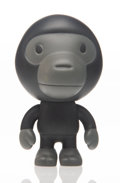 Collectible, BAPE. Baby Milo (Black), early 21st century. Painted cast vinyl. 4 x 2-1/2 x 2-1/2 inches (10.2 x 6.4 x 6.4 cm). Stamped...