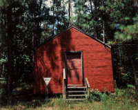 William Christenberry Jr. (American, b. 1936) Red Building in Forest, Hale County, Alabama, 1989 Dye