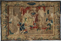 Textiles, A French Historical Tapestry Depicting Alexander and Roxanne, 17th century. Marks: (B-shield-B), I.LMS. 163 x 182 inches...