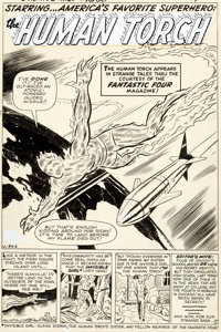 Jack Kirby and Dick Ayers Strange Tales #101 Story Page 1 Human Torch Original Art (Marvel, 1962)