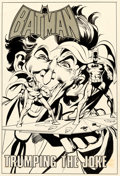 Original Comic Art:Splash Pages, Neal Adams and Dick Giordano Batman: Stacked Cards [Book and Record Set] #PR27 Splash Page 1 Joker Original Art (P...
