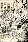 Original Comic Art:Covers, Jack Kirby and Vince Colletta Thor #157 Cover Original Art (Marvel, 1968)....