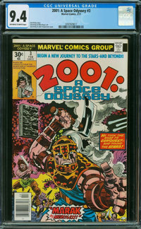 2001: A Space Odyssey #3 (Marvel, 1977) CGC NM 9.4 Off-white to white pages