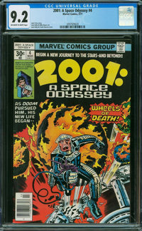 2001: A Space Odyssey #4 (Marvel, 1977) CGC NM- 9.2 Off-white to white pages