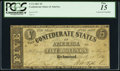 Confederate Notes:1861 Issues, T12 $5 1861 PF-1 Cr. 47 PCGS Fine 15.. ...