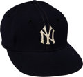 Baseball Collectibles:Others, 1956 Don Larsen World Series Perfect Game Worn New York Yankees Cap with Extraordinary Provenance....
