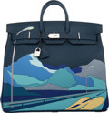 "Luxury Accessories:Bags, Hermès Limited Edition 50cm Bleu de Prusse Togo Leather ""Endless Road"" HAC Birkin Bag with Palladium Hardware. D, 2019. ..."