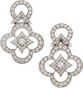 "Luxury Accessories:Accessories, Louis Vuitton 18K White Gold & Diamond Les Ardentes Earrings. Condition: 1. 0.75"" Width x 1"" Length. ..."