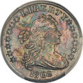 Early Dollars, 1802 $1 Narrow Date, B-6, BB-241, R.1, MS65+ PCGS. CAC....