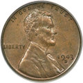 Lincoln Cents, 1943-D 1C Struck on a Bronze Planchet MS64 Brown PCGS....