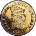 Proof Early Eagles, 1804 $10 Plain 4, BD-2, JD-1, Judd-33, High R.7, PR65+ Deep Cameo PCGS. CAC....