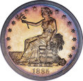 Proof Trade Dollars, 1885 T$1 Trade PR63+ Cameo PCGS. CAC....