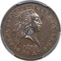 Large Cents, 1792 P1C One Cent, Judd-1, Pollock-1, High R.6, SP67 Brown PCGS. CAC....