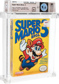 "Video Games:Nintendo, Super Mario Bros. 3 - Wata 9.6 A+ Sealed [Bros. ""Right,"" Later Production], NES Nintendo 1990 USA...."