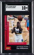 Basketball Cards:Singles (1980-Now), 2019 Panini Instant Zion Williamson #91 SGC Gem Mint 10. ...