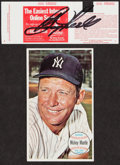 Baseball Collectibles:Photos, Boog Powell Signed Ticket Plus 1964 Topps Giants Mantle & More.... (Total: 2 items)