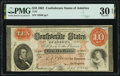Confederate Notes:1861 Issues, T24 $10 1861 PF-1 Cr. 156 PMG Very Fine 30 EPQ.. ...