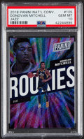 Basketball Cards:Singles (1980-Now), 2018 Panini National Convention Donovan Mitchell Rookie 276/399 #105 PSA Gem Mint 10. ...