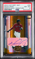 Baseball Cards:Singles (1970-Now), 2004 Leaf Certified Material Mirror Gold Signature David Ortiz #49 PSA NM-MT 8 - Serial Numbered 6/25....