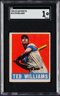 Baseball Cards:Singles (1940-1949), 1948 Leaf Ted Williams #76 SGC Poor 1....