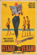 """Movie Posters:Foreign, Peccati d'Estate (Ocean Film, 1962). Folded, Fine+. Argentinean One Sheet (29"""" X 43""""). Foreign.. ..."""