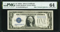 Small Size:Silver Certificates, A. W. Mellon Courtesy Autographed Fr. 1601 $1 1928A Silver Certificate. PMG Choice Uncirculated 64.. ...
