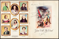 """Gone with the Wind (MGM, 1939). Very Fine-. Autographed Souvenir Program (20 Pages, 9"""" X 12""""). Southern Editio..."""