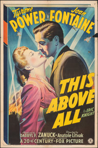 """This Above All (20th Century Fox, 1942). Folded, Fine. One Sheet (27"""" X 41"""") Style A. War"""