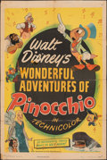 """Movie Posters:Animation, Pinocchio (RKO, R-1945). Folded, Very Good/Fine. One Sheet (27"""" X 41""""). Animation.. ..."""