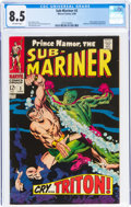 Silver Age (1956-1969):Superhero, The Sub-Mariner #2 (Marvel, 1968) CGC VF+ 8.5 White pages....
