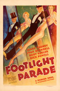 "Movie Posters:Musical, Footlight Parade (Warner Bros., 1933). Very Fine- on Linen. One Sheet (27.5"" X 41"").. ..."