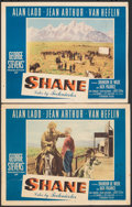 """Movie Posters:Western, Shane (Paramount, 1953). Fine+. Lobby Card (11"""" X 14"""") & Trimmed Lobby Card (11"""" X 13.75""""). Western.. ... (Total: 2 Items)"""