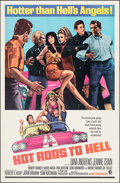 "Movie Posters:Exploitation, Hot Rods to Hell (MGM, 1967). Folded, Very Fine-. One Sheet (27"" X 41""). Exploitation.. ..."