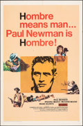 "Movie Posters:Western, Hombre (20th Century Fox, 1966). Folded, Fine/Very Fine. One Sheet (27"" X 41""). Western.. ..."