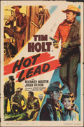 "Movie Posters:Western, Hot Lead (RKO, 1951). Folded, Fine-. One Sheet (27"" X 41""). Western.. ..."