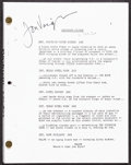 """Movie Posters:Academy Award Winners, Midnight Cowboy (1990s). Very Fine+. Autographed Photocopied Script (Multiple Pages, 8.5"""" X 11""""). Academy Award Winners.. ..."""