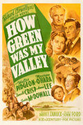 Movie Posters:Academy Award Winners, How Green Was My Valley (20th Century Fox, 1941). Fine- on...