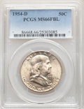 Franklin Half Dollars, 1954-D 50C MS66 Full Bell Lines PCGS. PCGS Population: (227/4). NGC Census: (40/3). CDN: $550 Whsle. Bid for NGC/PCGS MS66....