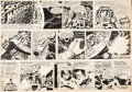 Original Comic Art:Comic Strip Art, Jack Kirby and Wally Wood Sky Masters of the Space Force Sunday Comic Strip Original Art dated 5-3-59 (George ...