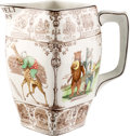 """Political:3D & Other Display (1896-present), Theodore Roosevelt: Classic Buffalo Pottery """"Roosevelt Bears"""" Pitcher...."""