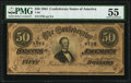 Confederate Notes:1864 Issues, T66 $50 1864 PF-2 Cr. 496 PMG About Uncirculated 55.. ...