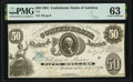Confederate Notes:1861 Issues, T8 $50 1861 PF-1 Cr. 14 PMG Choice Uncirculated 63.. ...