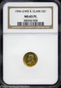 Commemorative Gold: , 1904 G$1 Lewis and Clark MS65 Prooflike NGC. Splendid ...