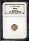 Commemorative Gold: , 1917 G$1 McKinley MS64 NGC. A satiny and attractively ...