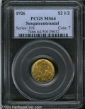 Commemorative Gold: , 1926 $2 1/2 Sesquicentennial MS64 PCGS. Clean and sharp ...