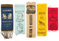 Political:Ribbons & Badges, Harrison & Morton: Jugate Ribbons and More....