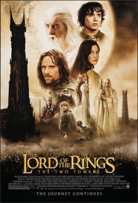"""The Lord of the Rings: The Two Towers (New Line, 2002). Rolled, Very Fine/Near Mint. One Sheet (27"""" X 40"""") DS..."""