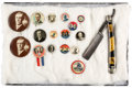 Political:Pinback Buttons (1896-present), Wilson & Marshall: Jugate Buttons And More....
